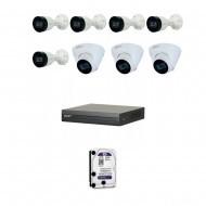 IP Комплект видеонаблюдения Dahua(8) 2MP (FullHD) 5уличн-3купол