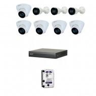 IP Комплект видеонаблюдения Dahua(8) 2MP (FullHD) 3уличн-5купол
