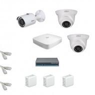 IP Комплект видеонаблюдения Dahua Ultra HD 1уличн-2купол (металл)