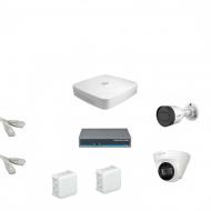 IP Комплект видеонаблюдения Dahua 4MP (2K) Ultra HD 1уличн-1купол(металл)