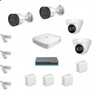 IP Комплект видеонаблюдения Dahua 4MP (2K) Ultra HD 2уличн-2купол(металл)