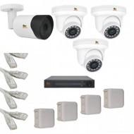 IP Комплект видеонаблюдения Partizan Professional POE 1уличн-3купол(металл)