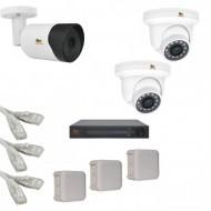 IP Комплект видеонаблюдения Partizan Professional POE 1уличн-2купол(металл)
