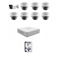 IP Комплект видеонаблюдения Hikvision(8) 2MP (FullHD) 1уличн-7купол