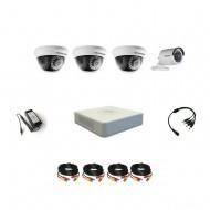 Комплект видеонаблюдения Hikvision Professional 1 уличн - 3 внутр