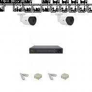 IP Комплект видеонаблюдения Partizan 5MP SuperHD POE 2 цилиндра(металл)