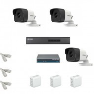 IP Комплект видеонаблюдения Hikvision Standart 3 цилиндра (металл)