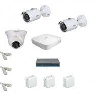 IP Комплект видеонаблюдения Dahua Ultra HD 2уличн-1купол (металл)