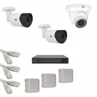 IP Комплект видеонаблюдения Partizan Professional POE 2уличн-1купол(металл)