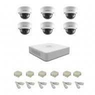 IP Комплект видеонаблюдения Hikvision(8) 2MP (FullHD) 6 купол