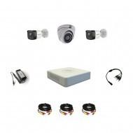 Комплект видеонаблюдения Hikvision Turbo HD 5Мп 2уличн-1купол(металл)