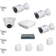 IP Комплект видеонаблюдения Dahua Ultra HD 3уличн-1купол (металл)