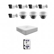 IP Комплект видеонаблюдения Hikvision(8) 2MP (FullHD) 5уличн-3купол