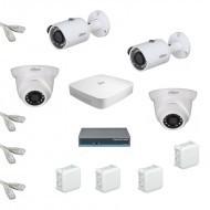 IP Комплект видеонаблюдения Dahua Ultra HD 2уличн-2купол (металл)