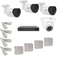 IP Комплект видеонаблюдения Partizan Professional POE 3уличн-1купол(металл)
