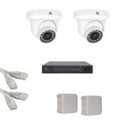 IP Комплект видеонаблюдения Partizan Professional POE 2купольные(металл)