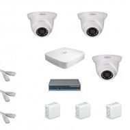 IP Комплект видеонаблюдения Dahua Ultra HD 3купольные (металл)