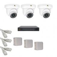 IP Комплект видеонаблюдения Partizan Professional POE 3купольные(металл)