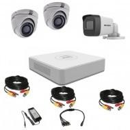Комплект видеонаблюдения Hikvision Turbo HD 5Мп 1уличн-2купол(металл)