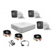 Комплект видеонаблюдения Hikvision Turbo HD 5Мп 3 уличные