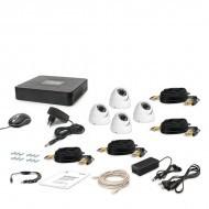 Комплект видеонаблюдения Tecsar 4OUT-DOME