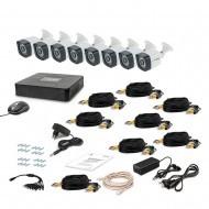 Комплект видеонаблюдения Tecsar 8OUT LIGHT