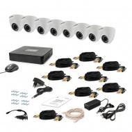 Комплект видеонаблюдения Tecsar 8IN DOME