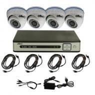 Комплект видеонаблюдения Oltec AHD-QUATTRO-FullHD Dome