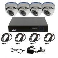 Комплект видеонаблюдения Oltec AHD-QUATTRO-HD Dome