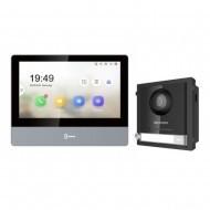 Комплект IP домофона Hikvision DS-KH8350-WTE1 + вызывная панель DS-KD8003-IME1/Surface