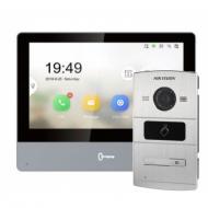Комплект IP домофона Hikvision DS-KH8350-WTE1+DS-KV8102-IM