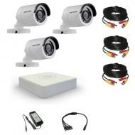 Комплект видеонаблюдения Hikvision 3 уличные