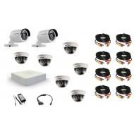Комплект видеонаблюдения Hikvision 2 уличн - 6 внутр