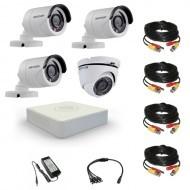 Комплект видеонаблюдения Hikvision Standart 3 уличн - 1 купол (металл)