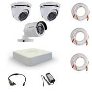 Комплект видеонаблюдения Hikvision Proffesional 1 уличн - 2 купол (металл)