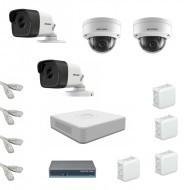 IP Комплект видеонаблюдения Hikvision Standart 2уличн-2купол (металл)