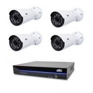 Комплект видеонаблюдения ATIS Starter Kit IP 4ext VF
