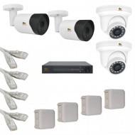 IP Комплект видеонаблюдения Partizan Professional POE 2уличн-2купол(металл)