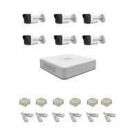 IP Комплект видеонаблюдения Hikvision(8) 2MP (FullHD) 6 цилиндр