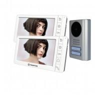 Комплект видеодомофона Tantos Amelie (White)  + Stuart-2