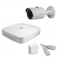 IP Комплект видеонаблюдения Dahua Ultra HD POE 1 цилиндр (металл)