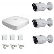 IP Комплект видеонаблюдения Dahua Ultra HD POE 3 цилиндра (металл)