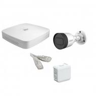 IP Комплект видеонаблюдения Dahua 4MP (2K) Ultra HD POE 1 цилиндр(металл)