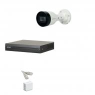 IP Комплект видеонаблюдения Dahua 2MP (FullHD) POE 1 цилиндр(металл)