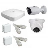 IP Комплект видеонаблюдения Dahua Ultra HD POE 1уличн-1купол(металл)