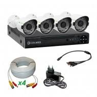 Комплект AHD видеонаблюдения COLARIX PREMIUM BULLET PERIMETR
