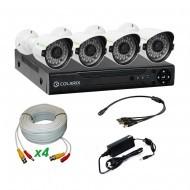 Комплект AHD видеонаблюдения COLARIX STANDART BULLET PERIMETER