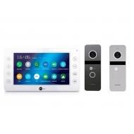 Комплект видеодомофона NEOLIGHT KAPPA+ HD / Solo FHD Graphite/Silver