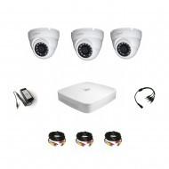 Комплект видеонаблюдения Dahua Professional  - 3 купольные (металл)