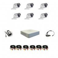 Комплект видеонаблюдения Hikvision(8) Professional 6 уличные